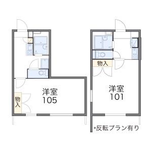 1K Apartment in Nagao - Mobara-shi Floorplan