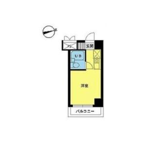 1R {building type} in Asahigaoka - Hino-shi Floorplan