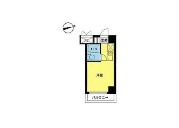 1R Apartment to Buy in Hino-shi Floorplan
