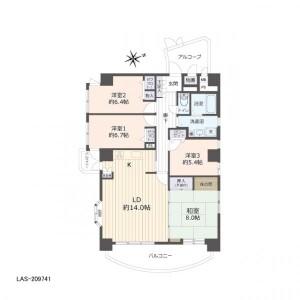 4LDK Apartment in Showamachi - Sendai-shi Aoba-ku Floorplan