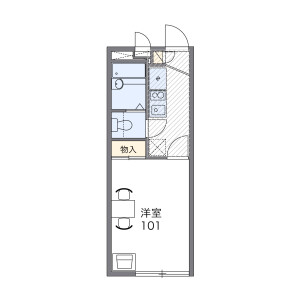 1K Apartment in Shimoimaizumi - Ebina-shi Floorplan