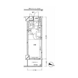 1R {building type} in Yanaka - Adachi-ku Floorplan