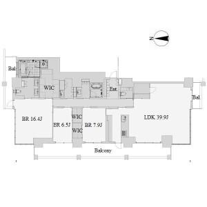 名古屋市中區栄-3LDK公寓 房間格局