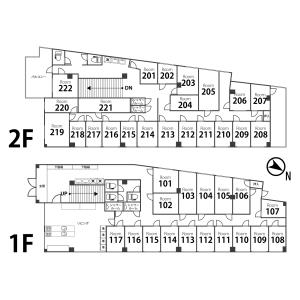 Lafesta Higashi Jujo - Guest House in Kita-ku Floorplan