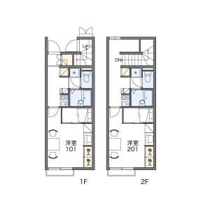 1K Apartment in Befu - Fukuoka-shi Jonan-ku Floorplan