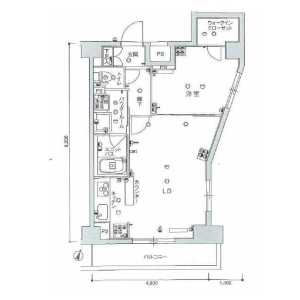1LDK Mansion in Sakaecho - Itabashi-ku Floorplan
