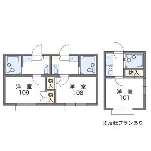 目黒区八雲-1R公寓 楼层布局