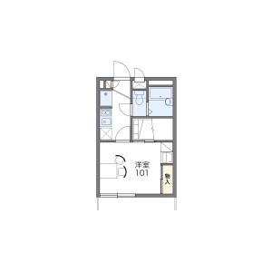 1K Apartment in Sugu minami - Kasuga-shi Floorplan