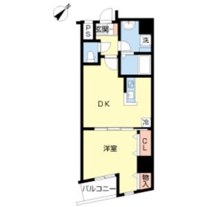 1DK Mansion in Shitaya - Taito-ku Floorplan