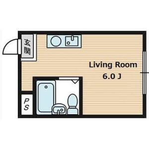 1R Apartment in Seiiku - Osaka-shi Joto-ku Floorplan