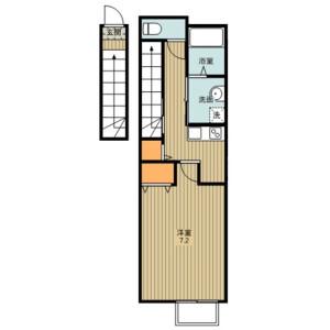 1K Apartment in Sankocho - Kawagoe-shi Floorplan