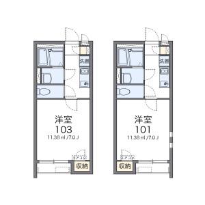 1K Apartment in Iwamimachi - Nagasaki-shi Floorplan