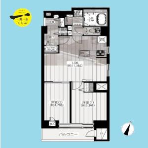 2LDK {building type} in Higashisakashita - Itabashi-ku Floorplan