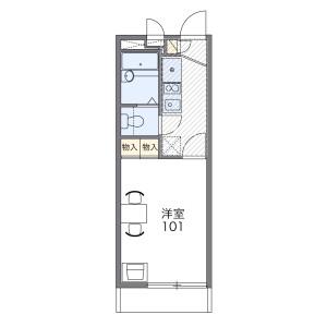 1K Apartment in Kamihorikoshicho - Nagoya-shi Nishi-ku Floorplan