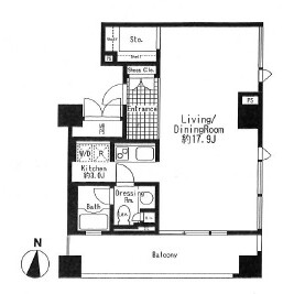 1R Mansion in Udagawacho - Shibuya-ku Floorplan