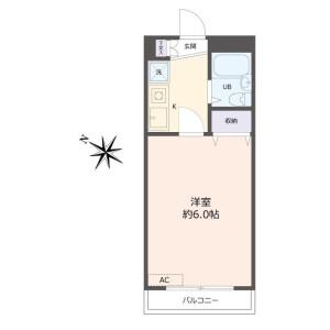 1K Apartment in Tsuruma - Machida-shi Floorplan