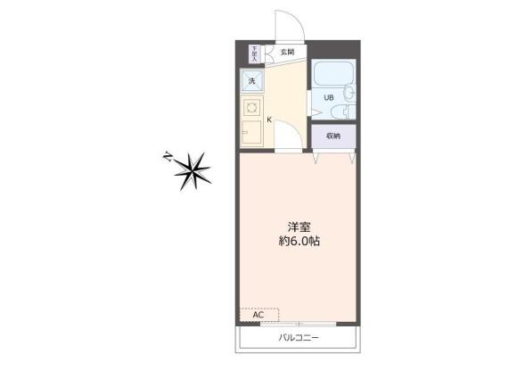 1K Apartment to Buy in Machida-shi Floorplan