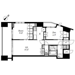 1SDK Mansion in Kandaogawamachi - Chiyoda-ku Floorplan