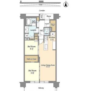 2LDK Mansion in Utsukushigaoka - Yokohama-shi Aoba-ku Floorplan