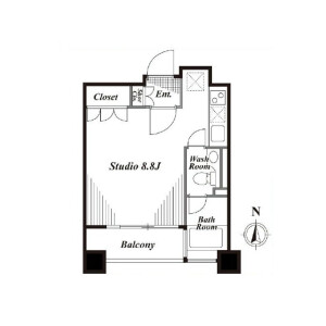 1K Mansion in Minamiaoyama - Minato-ku Floorplan