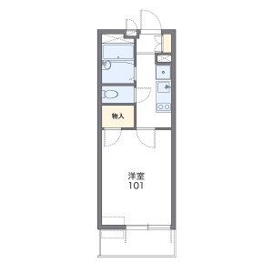1K Mansion in Takane - Sagamihara-shi Chuo-ku Floorplan