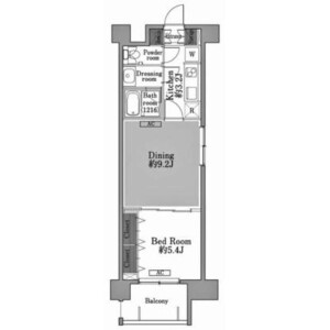 2K Apartment in Ichigayatamachi - Shinjuku-ku Floorplan