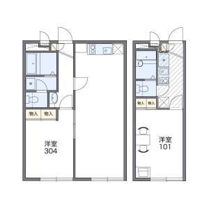 1LDK Mansion in Towa - Adachi-ku Floorplan