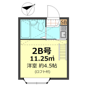 1R Apartment in Maenocho - Itabashi-ku Floorplan