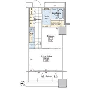 1LDK Mansion in Kamiikebukuro - Toshima-ku Floorplan