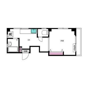 1DK Mansion in Futaba - Shinagawa-ku Floorplan