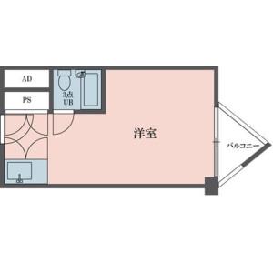 1R Mansion in Sendagaya - Shibuya-ku Floorplan