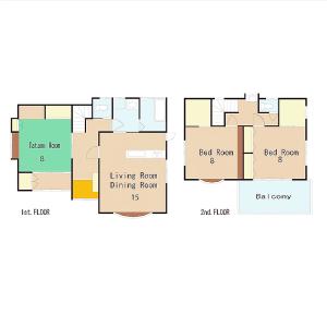 3LDK House in Kubiri - Yokosuka-shi Floorplan
