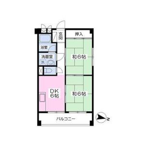 2DK Mansion in Ebara - Shinagawa-ku Floorplan