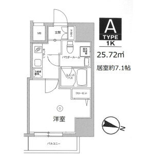 1K Mansion in Miyamotocho - Itabashi-ku Floorplan