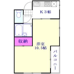 草加市瀬崎町-1K公寓大厦 楼层布局