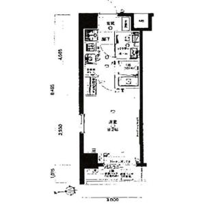 港区白金台-1K公寓大厦 楼层布局