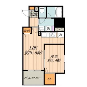 1LDK Mansion in Ueno - Taito-ku Floorplan