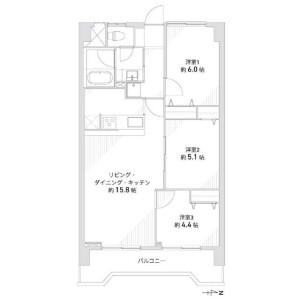 名古屋市港区 - 千鳥 公寓 3LDK 房間格局