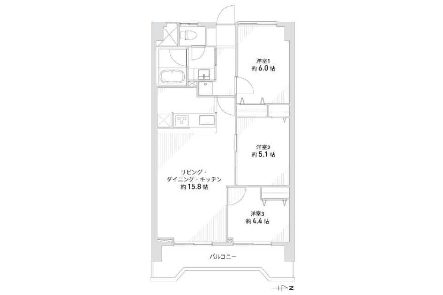 在Nagoya-shi Minato-ku購買3LDK 公寓的房產 房間格局