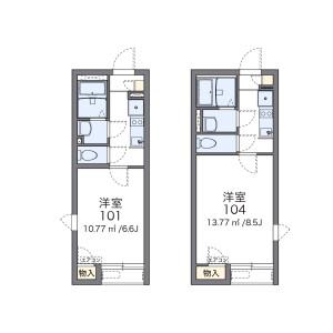 1K Apartment in Higashitsutsujigaoka - Chofu-shi Floorplan