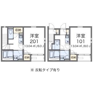 横須賀市 望洋台 1K アパート 間取り
