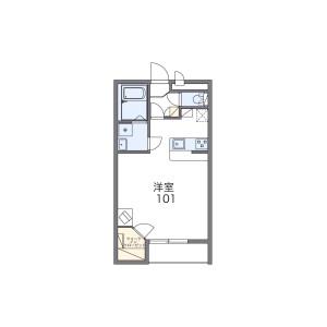 1K Apartment in Higashiaburayama - Fukuoka-shi Jonan-ku Floorplan