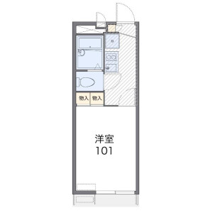 1K Mansion in Maekaizukacho - Funabashi-shi Floorplan