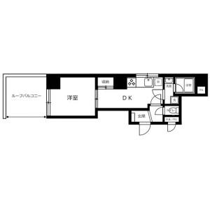 1DK {building type} in Isezakicho - Yokohama-shi Naka-ku Floorplan