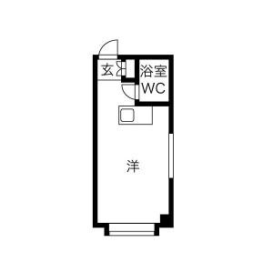 1R Mansion in Sugimoto - Osaka-shi Sumiyoshi-ku Floorplan