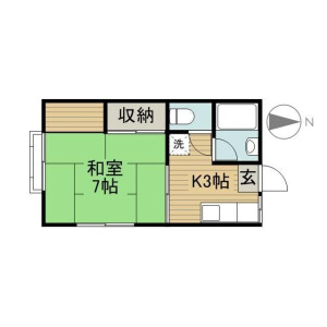 1K Apartment in Ikebukurohoncho - Toshima-ku Floorplan