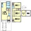 3LDK House to Buy in Kyoto-shi Minami-ku Floorplan