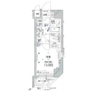 港区新橋-1K公寓大厦 楼层布局