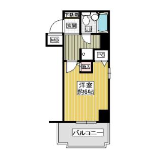 1K {building type} in Kyomachibori - Osaka-shi Nishi-ku Floorplan