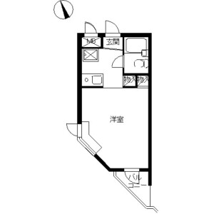 1R Apartment in Hakuraku - Yokohama-shi Kanagawa-ku Floorplan